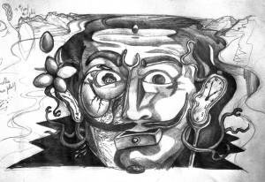 Esquisse Fresque Dali